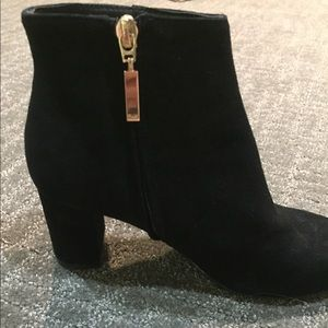 Shoes - Booties Black Suede size 7, used